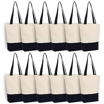 Amazon.com: Bolsa de lona de algodón resistente de 12 onzas ...