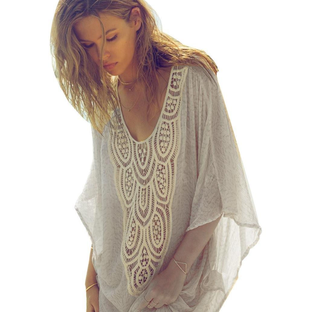 SANNYSIS Summer Women Top Short Sleeves Shirt Lace Blouse Casual Tank Tops T-Shir SANNYSIS_A147
