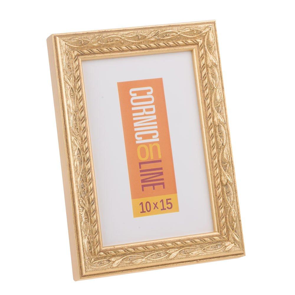 Amazon.de: Holzrahmen 132, gold, 10x15 Table top frame
