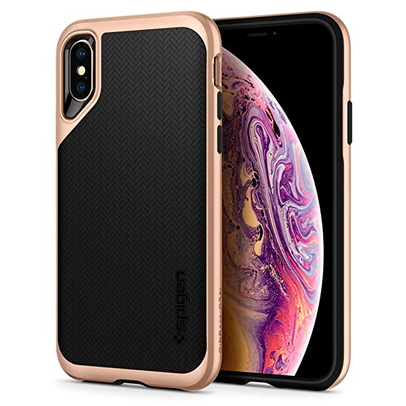 best website 7f440 e7e54 Spigen Neo Hybrid Designed for iPhone Xs Case (2018) / Designed for iPhone  X Case (2017) - Blush Gold