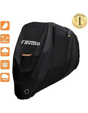 Favoto Funda para Moto Cubierta de la Motocicleta 190T Protectora Poliéster con Banda Reflectante a Prueba