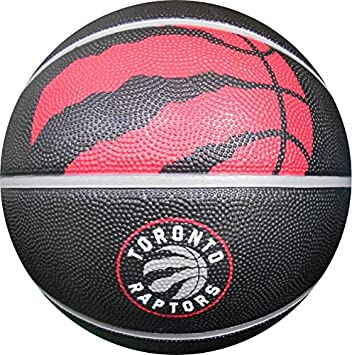 spalding toronto raptors courtside rubber outdoor basketball size 7