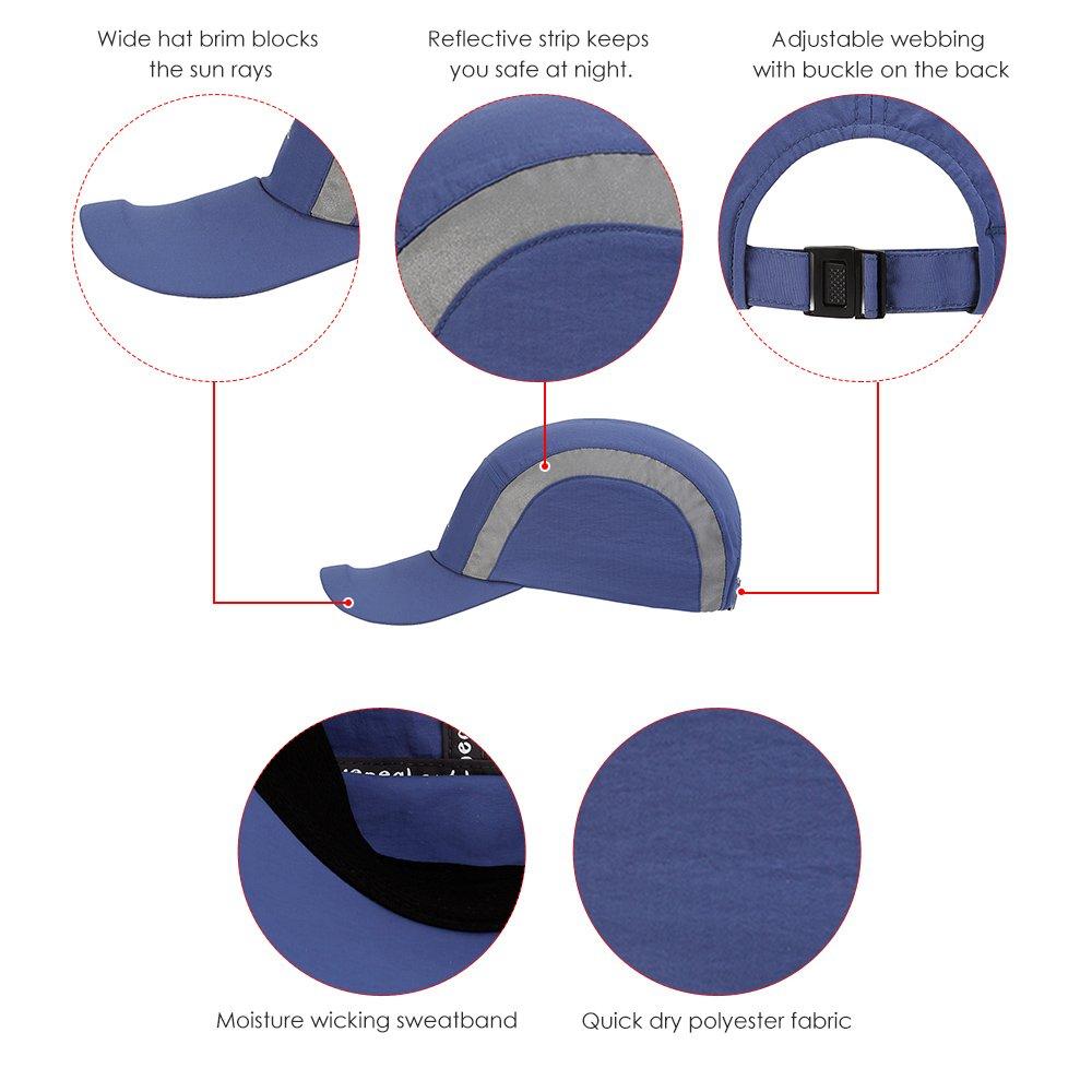 f05c7c0736f Amazon.com   Lixada Quick-drying Reflective Baseball Cap Lightweight Summer  UV Protection Sun Hat Outdoor Sports Cap   Sports   Outdoors