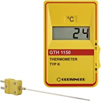 GHM Greisinger GTH 1150-Gourmet-SET Bratenthermometer, Thermometer mit Einstechfühler, Kunststoff, Gelb, 14 x 6.8 x 3 cm, 2 Einheiten