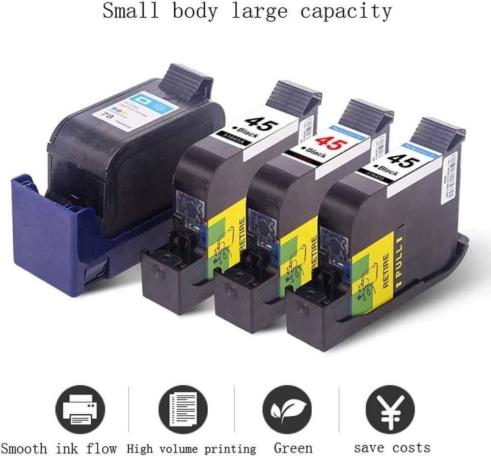 Cartucho de tinta 78XL 45XL, para impresoras HP 51645A 1180C 1280, color blackdye size: Amazon.es: Oficina y papelería