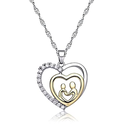 Amazon Mothers Birthday Gift Love Heart Necklace Jewelry For