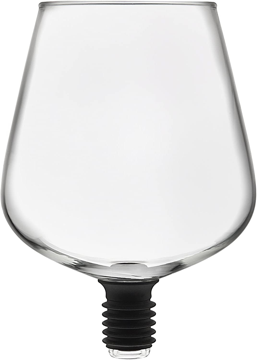 Godinger ChugMate Wine Glass Topper, Goblet to Drink Straight from The Bottle, The Original, 16oz, Clear