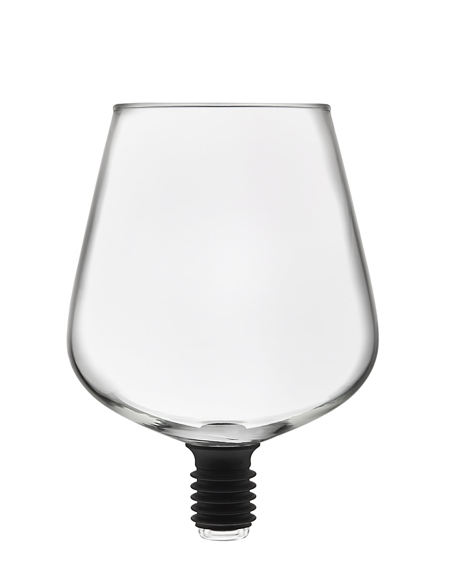 Godinger 22103 Chugmate Wine Glass Topper, the Goblet to Drink Straight from the Bottle, 8 oz, Clear