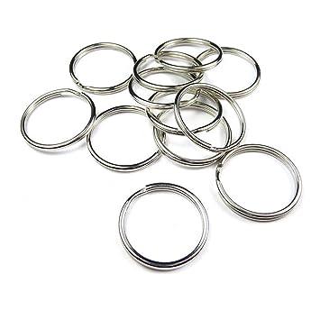 Distinct® 20pcs anillo de metal de acero de bucle de anillo ...