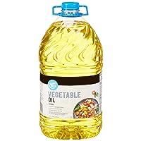 Amazon Brand - Happy Belly Vegetable Oil, 1 Gallon (128 Fl Oz)