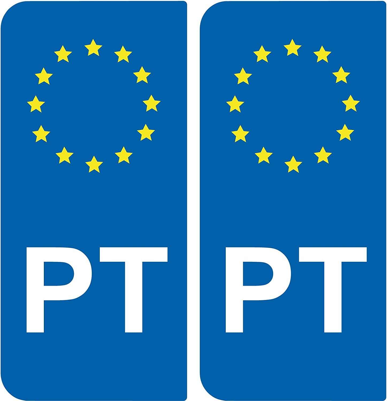 2 Pegatinas de placa de matrícula Auto PT Portugal – Identificador ...