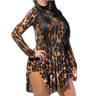 22543a7902 Kialishop Sexy Women Leopard Print Slim Cocktail Bodycon Bandage Clubwear  Evening Dress