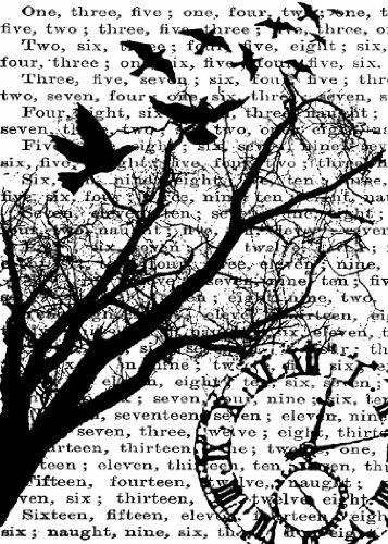 Tim Holtz Cling Stamp 2.5x3.5-Time ()