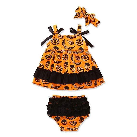 Baiomawzh Ropa Halloween Bebe Niñas Traje de bebé Diablo Impresión ...