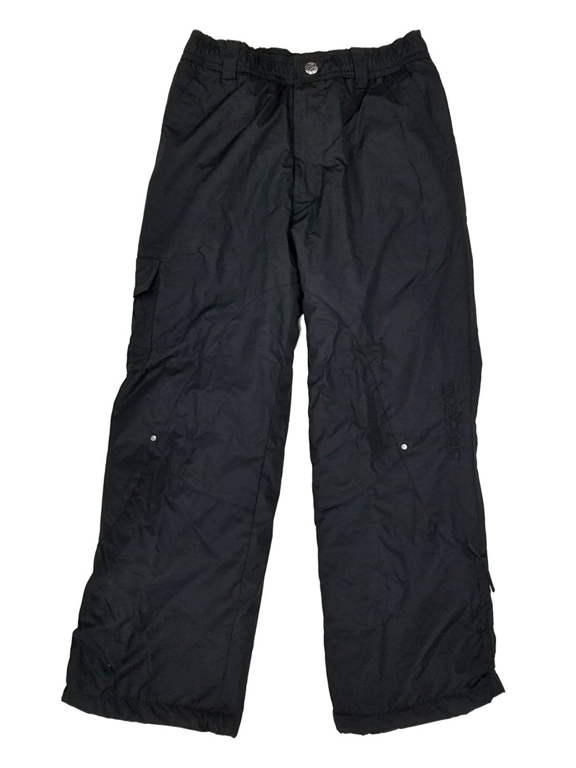 ZeroXposur Girls Black Water/Wind Resistant Insulated Cargo Snow Pants