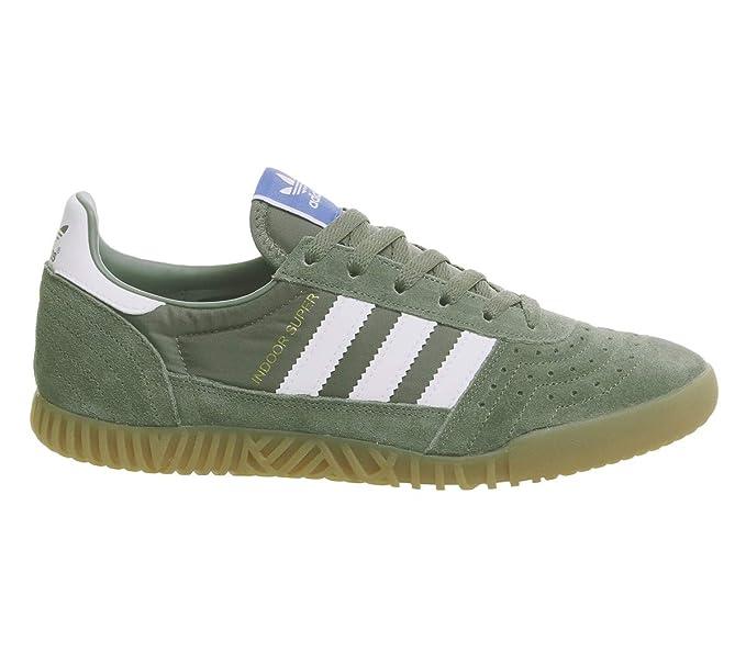 9fc2d816f95b3a Amazon.com: Adidas Indoor Super Mens Sneakers Green: Clothing