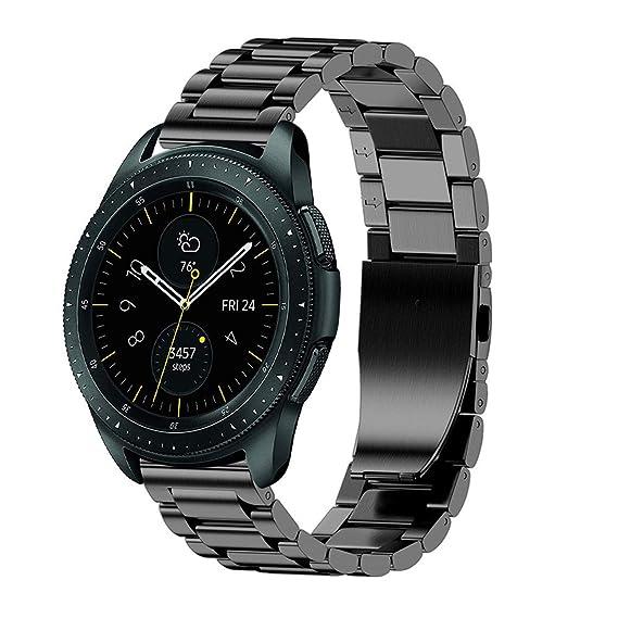 Hombre Mujer Reloj Correa De Reemplazo De Pulsera De Acero Inoxidable De Lujo para Samsung Galaxy