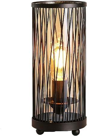 WJS Lampe De Table E27 Grille Design Lampe De Chevet en