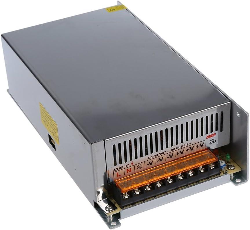 Gaoominy DC 12V 50A 600W de conmutacion Transformador de alimentacion para la luz de tira LED de 110/220 V