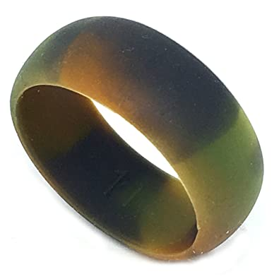 SAR SAFE ACTIVE RINGS 8MM Men or Ladies Flexible CAMO Silicon