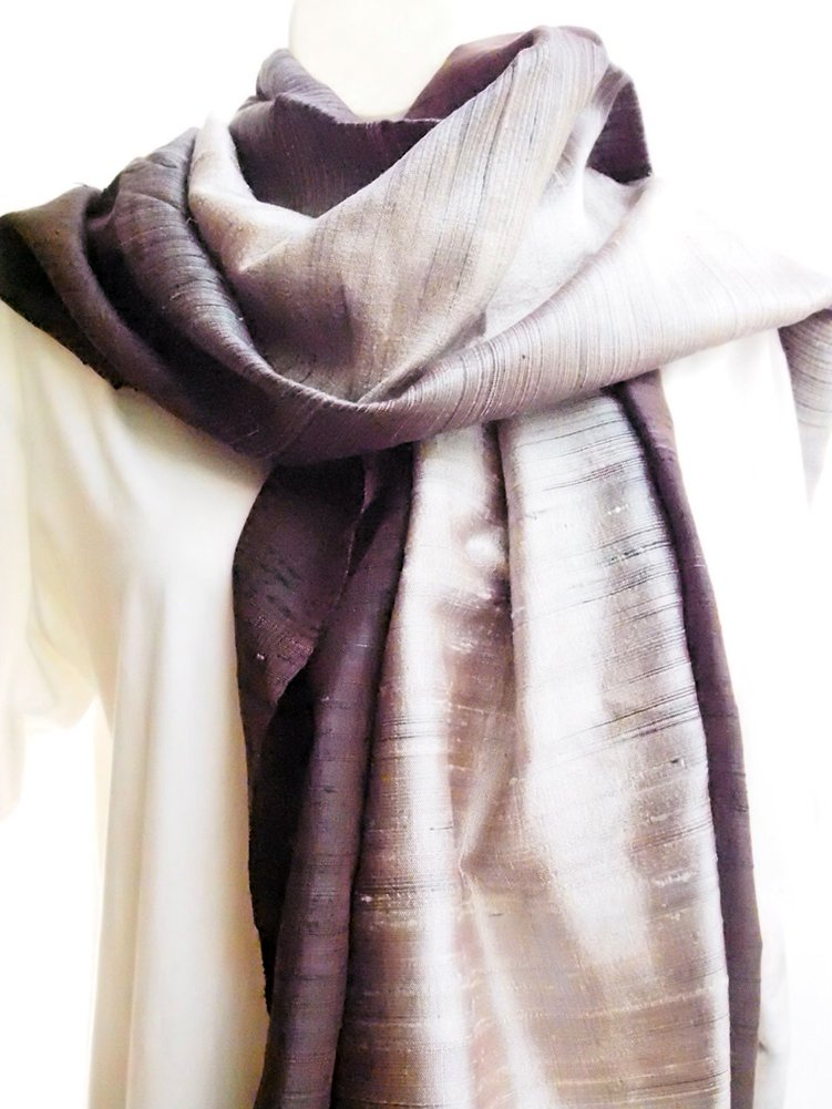 Hand Woven - 100 % Thai Silk 80'' X 26'' Winter Scarf / Scarves / Shawl / Stole / Tablecloth / Home Decoration by SukSomboonShop