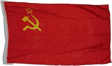 Antigua URSS Soviética Rusia bandera nacional 3 x 5 3 x 5 pies NUEVO poliéster: Amazon.es: Hogar