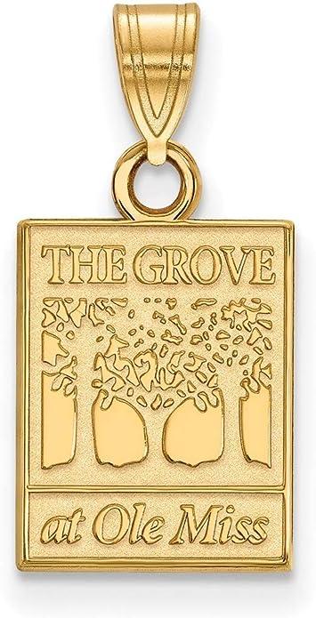 Gold-Plated Sterling Silver University of Mississippi Sm Pendant LogoArt GP061