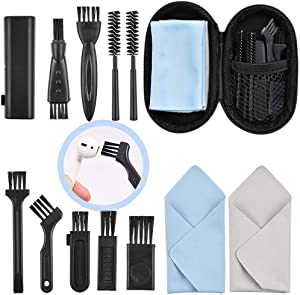 AirPod Cleaning Kit is Suitable for AirPods, Por, Other Headphones. Includes Multi-Model Brushes, Portable Storage Box, Microfiber Cloth