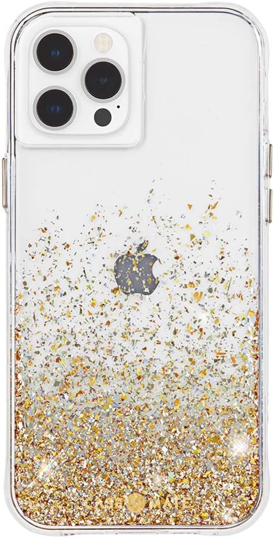 CASE-MATE iPhone 12 Pro Max Twinkle Ombr/é Gold with Micropel