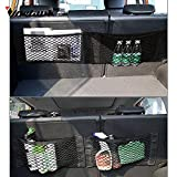 SaveStore Black 50cm x 25cm Car Trunk Storage Mesh Bag Car Magic Tape Sticking Holder Pocket Organizer