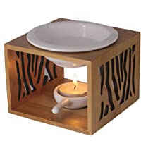 Singeek 100ML Ceramic Tea Light Holder,Essential Oil Burner Candle Aroma Diffuser for Spa Yoga Meditation(Geometry)