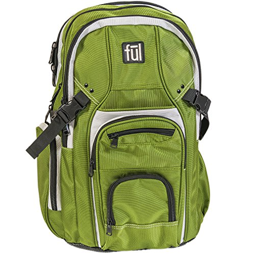 ful Tman Laptop Backpack, Olive, One Size