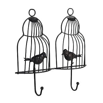 Pinji - Perchero en Forma de Jaula para pájaros de Hierro ...
