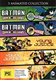 Batman Super Villains - Killer Croc + Batman Super Villains - Catwoman + Young Justice S 1 Vol 1 + Young Justice S 1 Vol 2 + Young Justice S 1