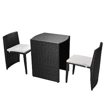 Tidyard 5pcs Ensemble de Mobilier d\'extérieur avec 1 Table et 2 ...