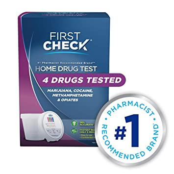 First Check at Home Drug Test Cup Kit, 4 Drug Panel, 1 Count