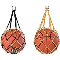 Jixista Ball Net Bag Carry Net Bag Nylon Mesh Ball Net Volleybal Basketbal Voetbal Carry Net Bag 2 stks Opslag Sport…