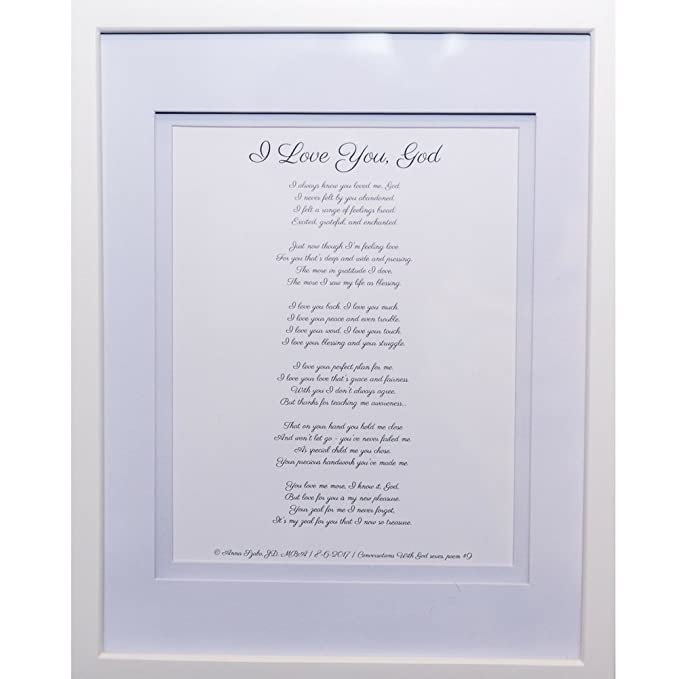Christian Poems by Anna Szabo #PoemsFromGod I Love You God  framed poetry for Prayer Hallway