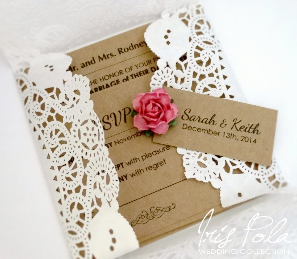 Amazon Set Of 25 Invitations With RSVP Cards Wedding Lace