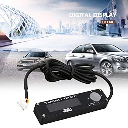 Delicacydex DC 12V Universal Digital Car Turbo Timer Pantalla LED Turbo Boost Timer Controller Type-0 Flameout Decelerator: Amazon.es: Coche y moto
