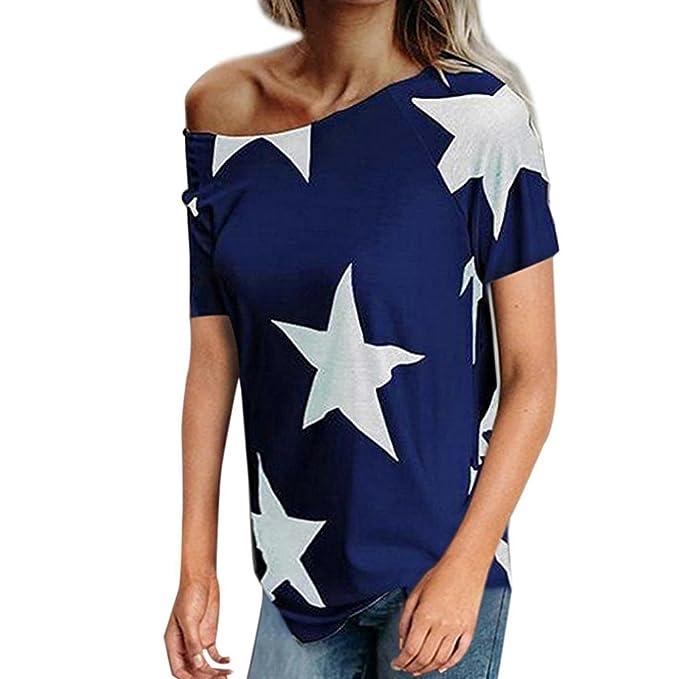 Camiseta Suelta Pentagram Mujer,Blusas sin Mangas con Cuello en V para Mujer