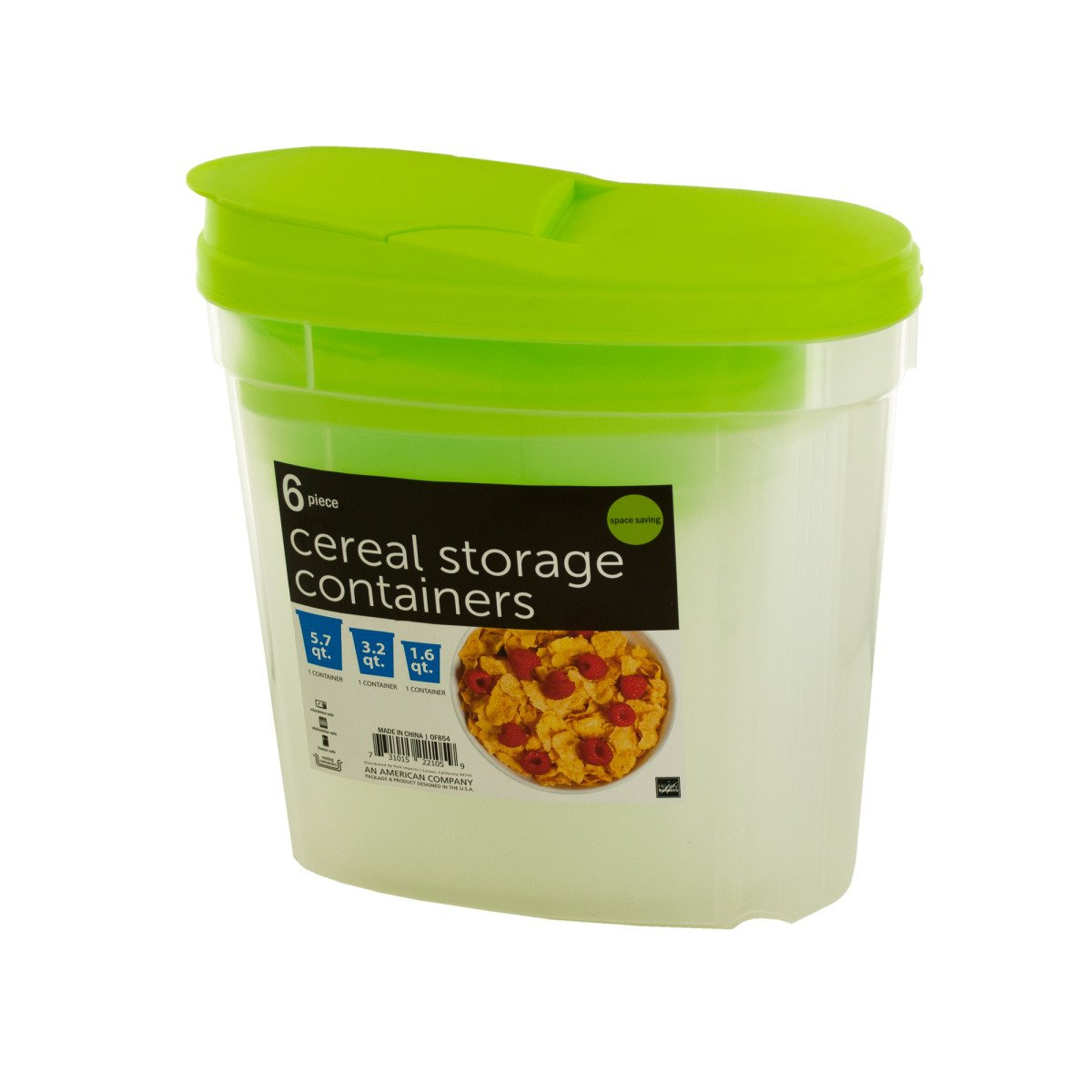 Handy Helpers Nesting Cereal Storage Containers, NEW