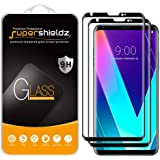 (2 Pack) Supershieldz for LG V35 ThinQ Tempered Glass Screen Protector, (Full Screen Coverage) 0.33mm, Anti Scratch, Bubble F