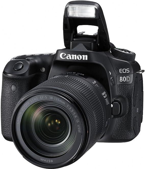 Canon EOS 80d EF-S 18 – 135 IS Nano USM Cámara Réflex, color Negro ...