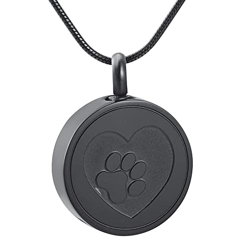 heart fit dog pin paws print locket lockets paw pendants necklace