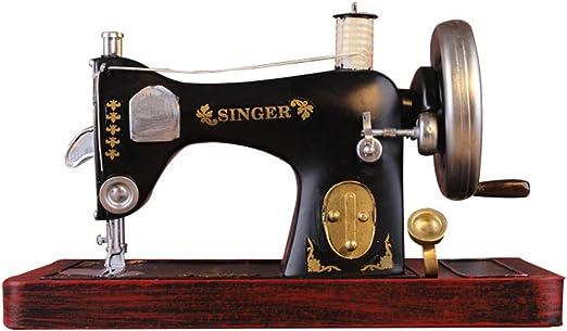 Luban Adornos Máquina de Coser Vintage Modelo Decoración para el ...