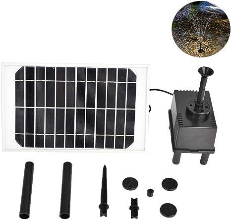 MJLXY 5W Solar Bombas para Fuentes,Bomba de Agua Solar, para el jardín, el Patio, Estanque, etc. Flujo máximo 300L / h: Amazon.es: Deportes y aire libre