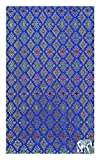 Check Registers Blue Thai Fabric Guest Check Presenter for Restaurant, Check Book Holder for Hotel, Checkbook Cover, Waitstaff Organizer, Server Book for Waiter with Money Pocket/With Plastic Cover
