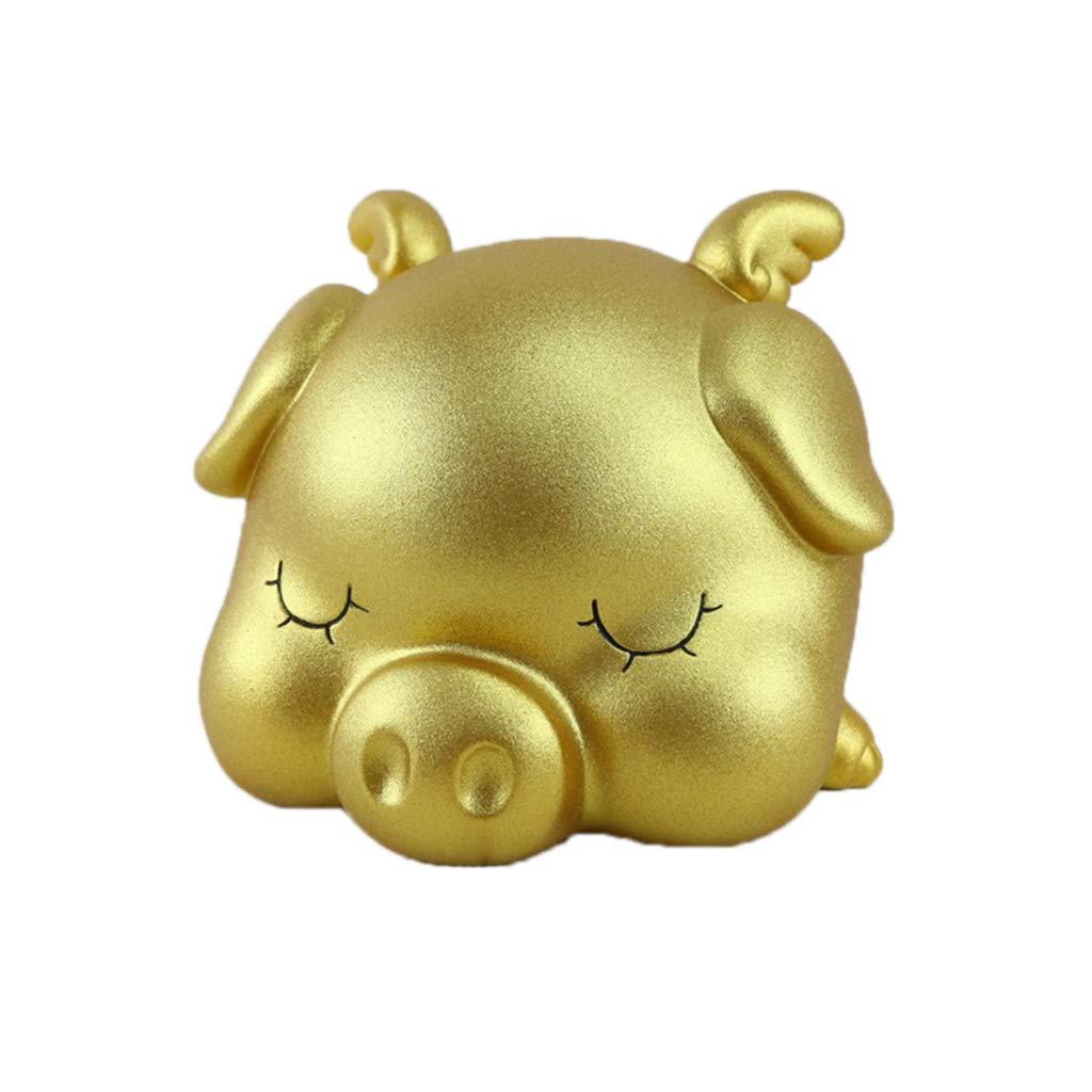 Kathope Encantador Hucha de Cerdito Rosa de Dinero de Ahorro de Maceta de Monedas Caja de Oro Creativo guarder/ía decoraci/ón Gdl