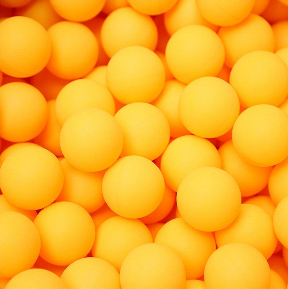 Hosaire 50x Tischtennis Training 40mm Zelluloid Trainingsbälle Gelb Ping Pong-Bälle